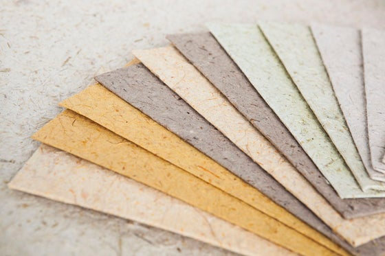 Image of Handcrafted Flax Paper Envelopes (10 Pack)