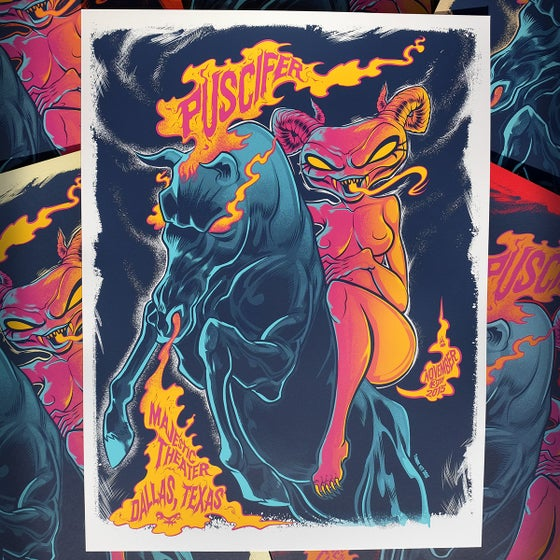 Image of Puscifer Limited Edition S/N Gig Poster November 3rd 2015