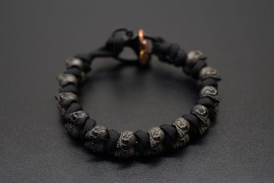 Image of Evil Twins Black Skull Bracelet