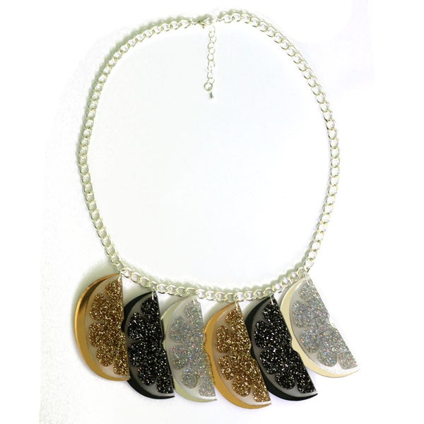 Image of Multi Glitter Slice Necklace