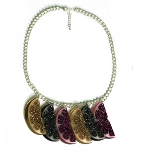Image of Multi Glitter Slice Necklace
