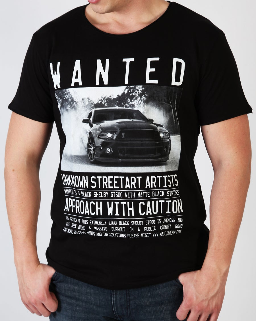 "Image of WANTED! ""Shelby GT500"" T-Shirt Men black"