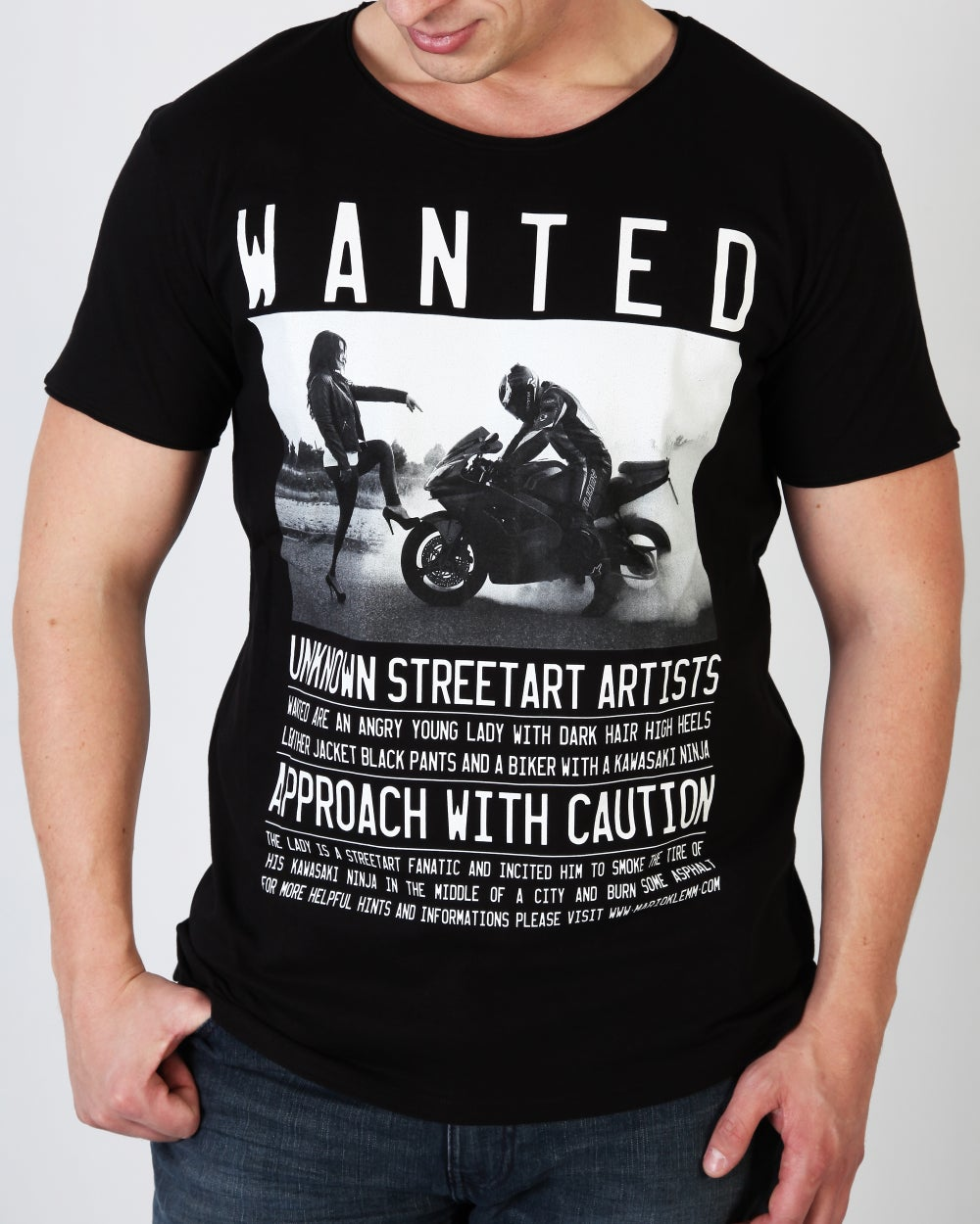 "Image of WANTED! ""Teacher"" T-Shirt Men black"