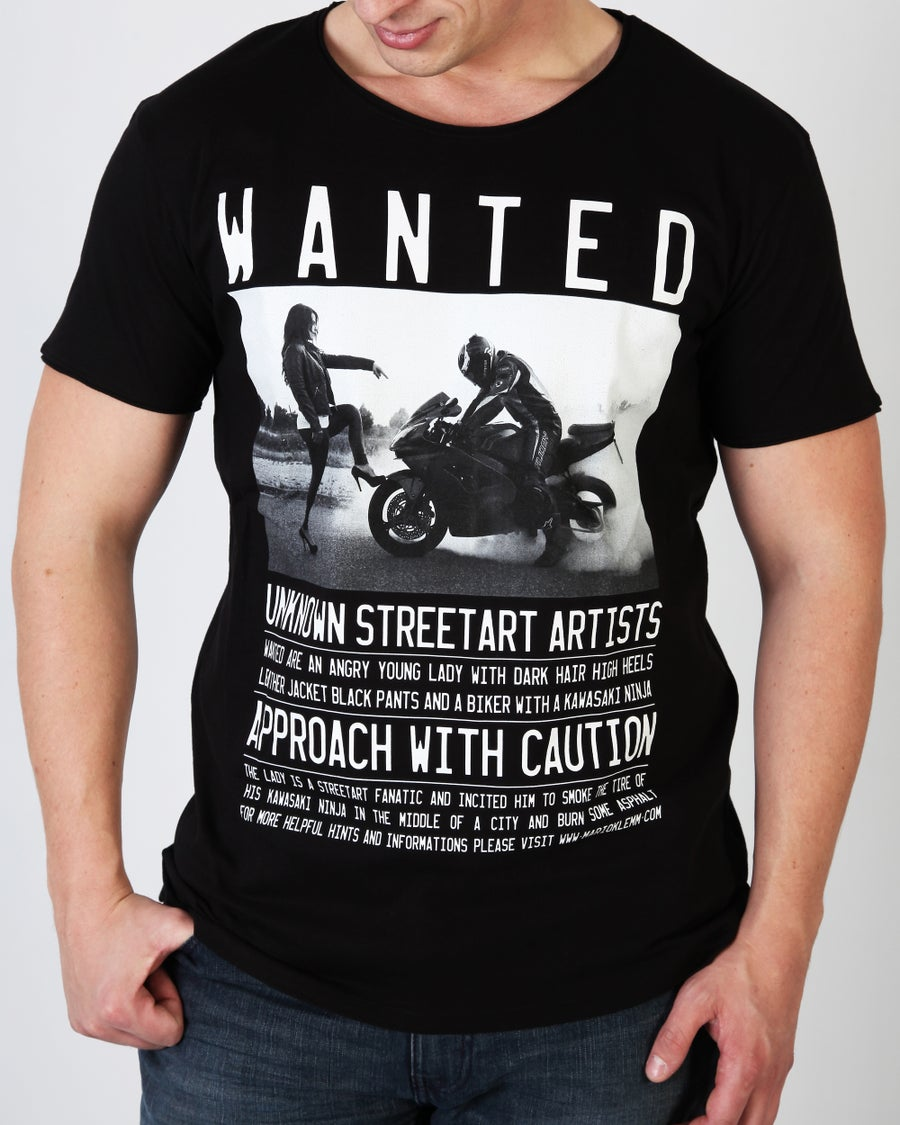 "Image of WANTED! ""Teacher"" T-Shirt Men black"