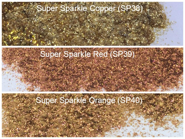 "Image of Sparks ""Super Sparkle"" and ""Intense Sparkle"" Pigment </p> 4 Colors Available"
