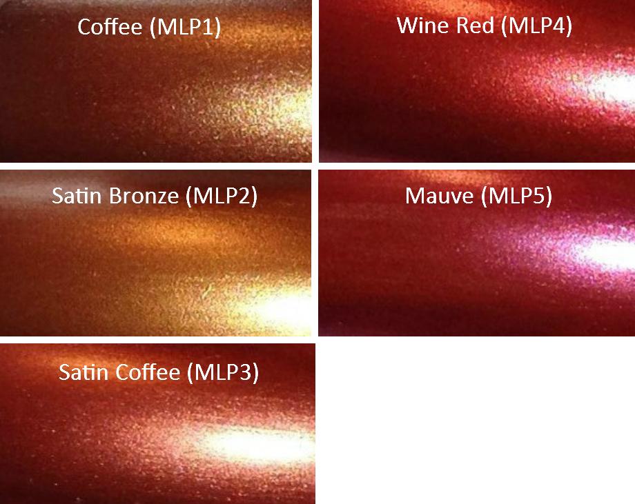 Image of Metallic Luster Pearl Pigment Sampler