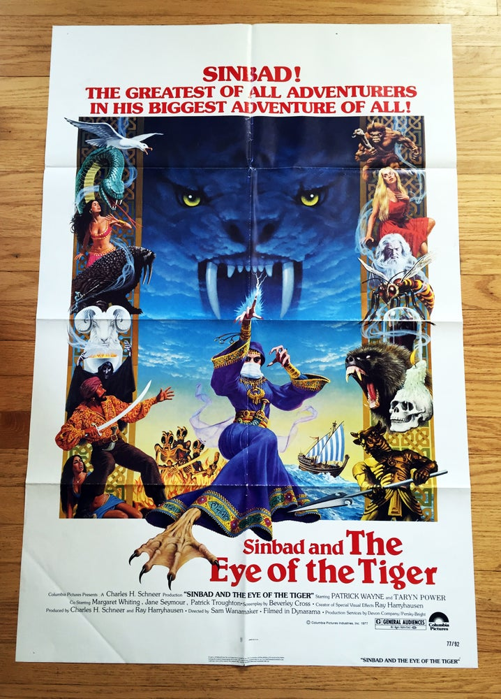 Image of 1977 SINBAD AND THE EYE OF THE TIGER Original U.S. One Sheet Movie Poster