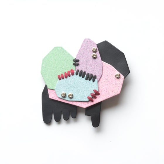 Image of Pastel geometric brooch 5