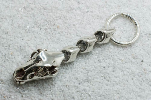 "Image of ""Lioness"" Key Ring - Sterling Silver"