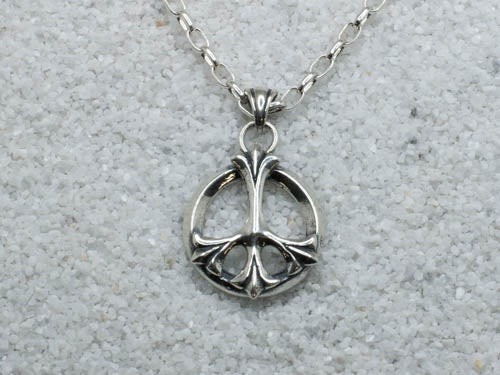 "Image of Small ""Fleur de Peace"" Pendant - Sterling Silver"