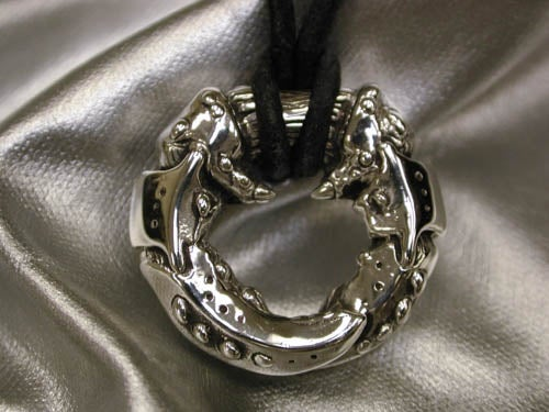 "Image of ""Round Lobster Claw"" Pendant - Sterling Silver"