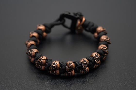 Image of Evil Twins Copper Skull Bracelet