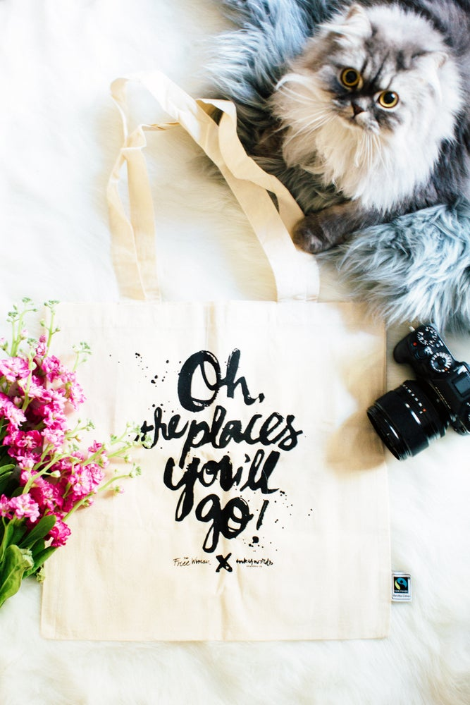 "Image of ""Oh the places you'll go!"" Tote Bag 