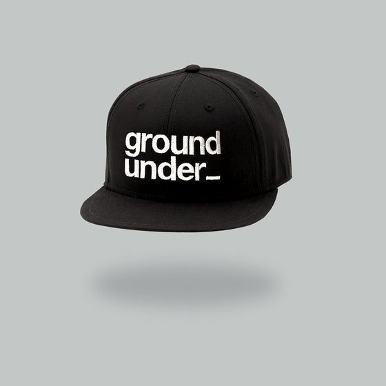 Image of Bedrock Underground Baseball Cap with white stitch pre-order