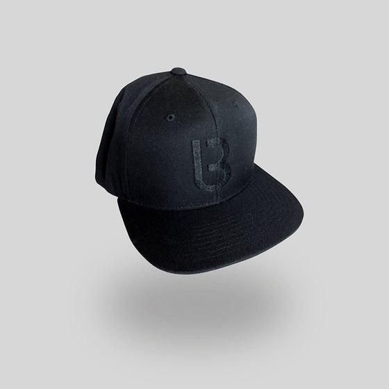 Image of Bedrock B Baseball Cap with black stitch