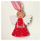 Image of Personalised Red Angel Decoration