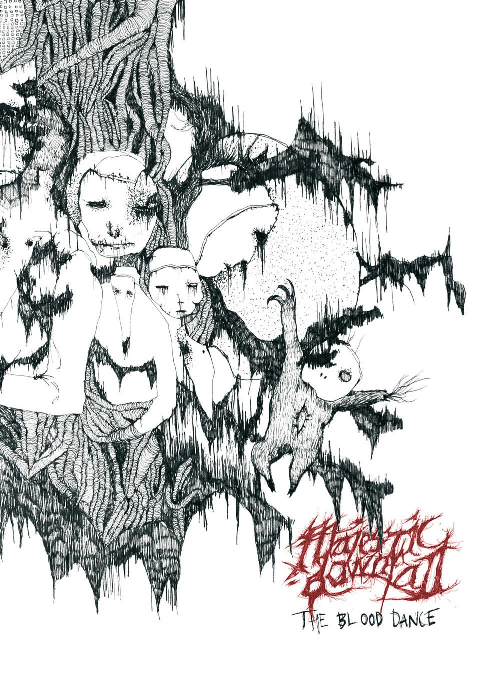 """Image of MAJESTIC DOWNFALL """"The Blood Dance"""" A5 digiCD"""