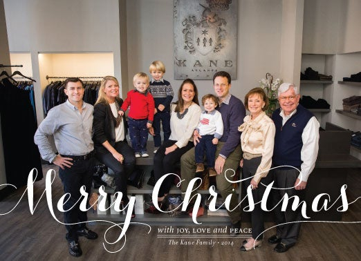 Image of Merry Christmas Script Holiday Card