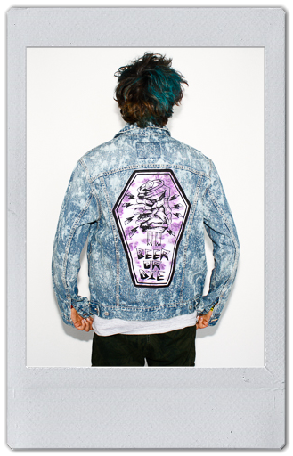 Image of BLEACHED DENIM JACKET 3