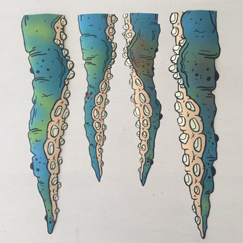 Image of SMALL TENTACLE STICKER SET