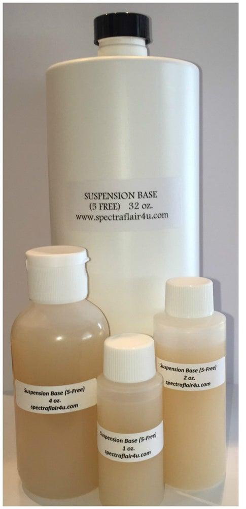 Image of 1, 2 or 4 oz. Glitter or Matte Suspension Base (5-Free)