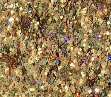 "Image of Gold Holoflake Glitter  </p>.04""  (1/25"")"