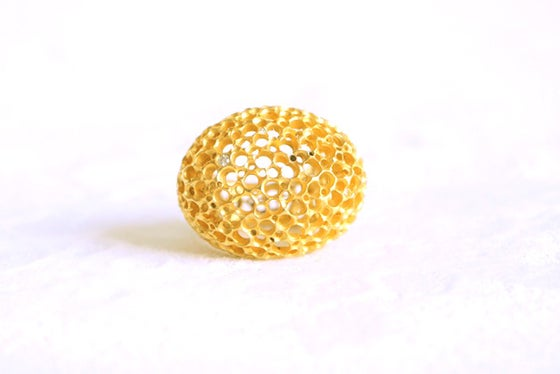 Image of Écume, Ring in Fairmined gold 18k with white diamonds
