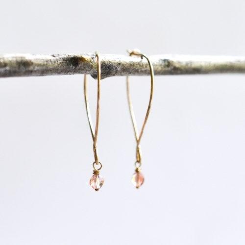 Image of Oregon sunstone hoop earrings