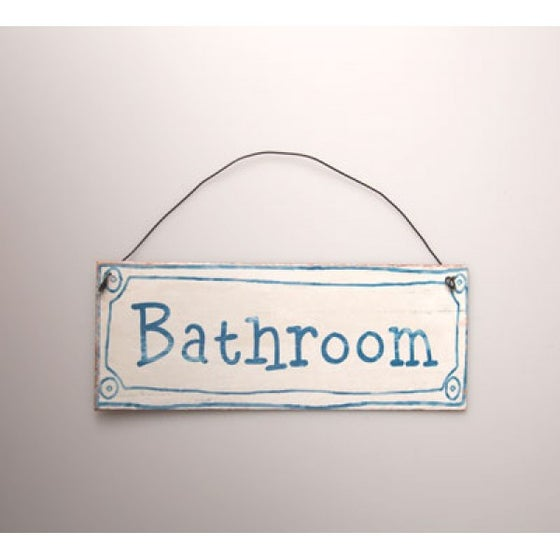 Image of   39 Bathroom  39  Retro French Style Plaque    39. Home   bailescreativeco