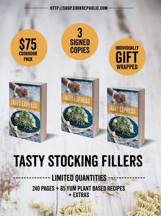 Image of 3 Signed Copies - $75 Tasty Express Cookbook Pack, Christmas 2015