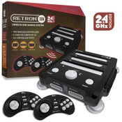 Image of SNES/ Genesis/ NES RetroN 3 Gaming Console 2.4 GHz Edition (Onyx Black) - Hyperkin