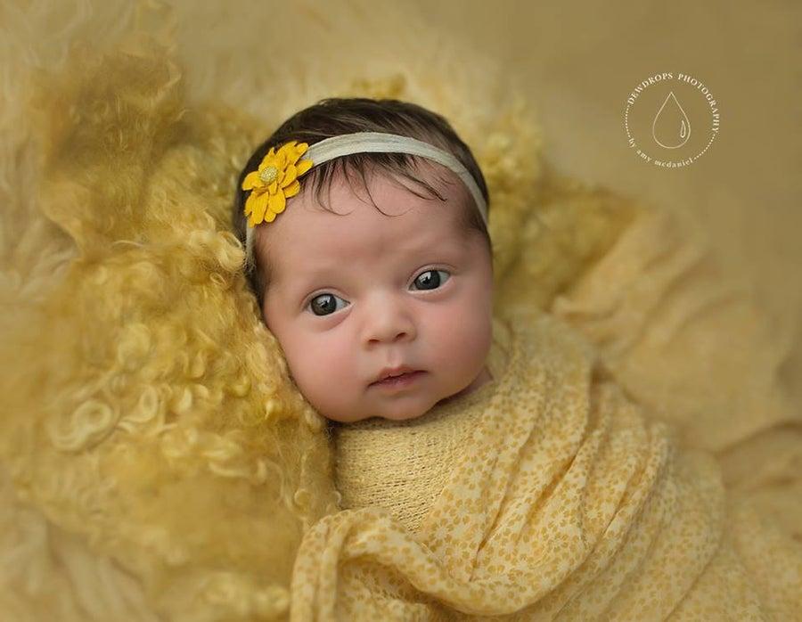 Image of Nest of Curls Blanket - yellow mustard