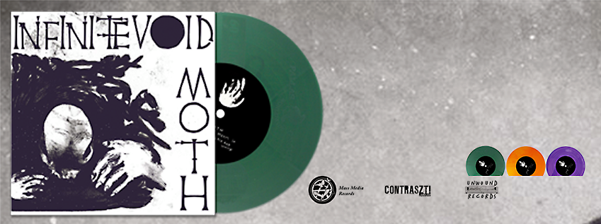"Image of Moth / Infinite Void split 7"" ORANGE VINYL"