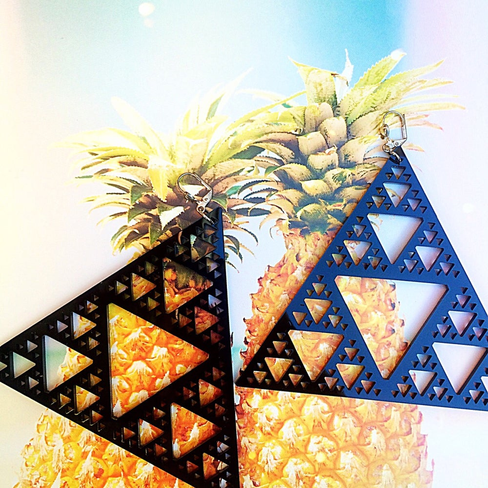 Image of Sierpinski Fractal Earrings |Marina Fini|