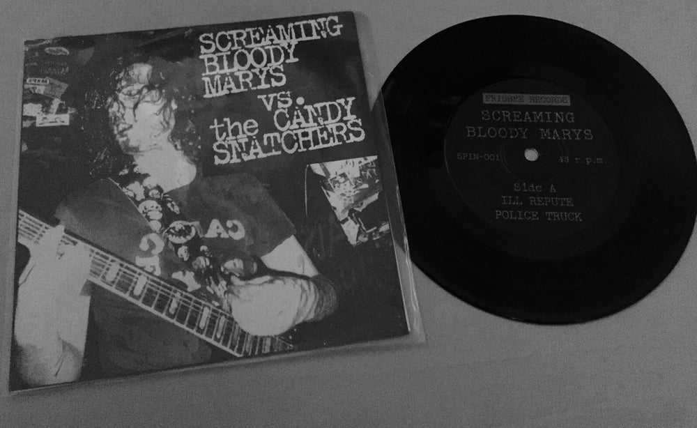 """Image of Screaming Bloody Marys vs. The Candy Snatchers 7"""" vinyl - RARE!!!"""
