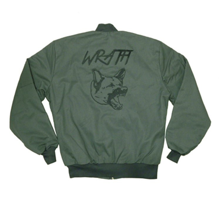 Image of WRATH Bomber Jacket in Olive by Haus of Vain