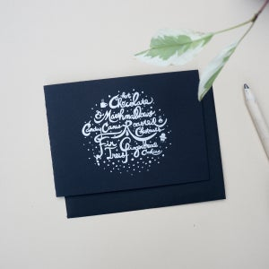 Image of Black and silver holiday card