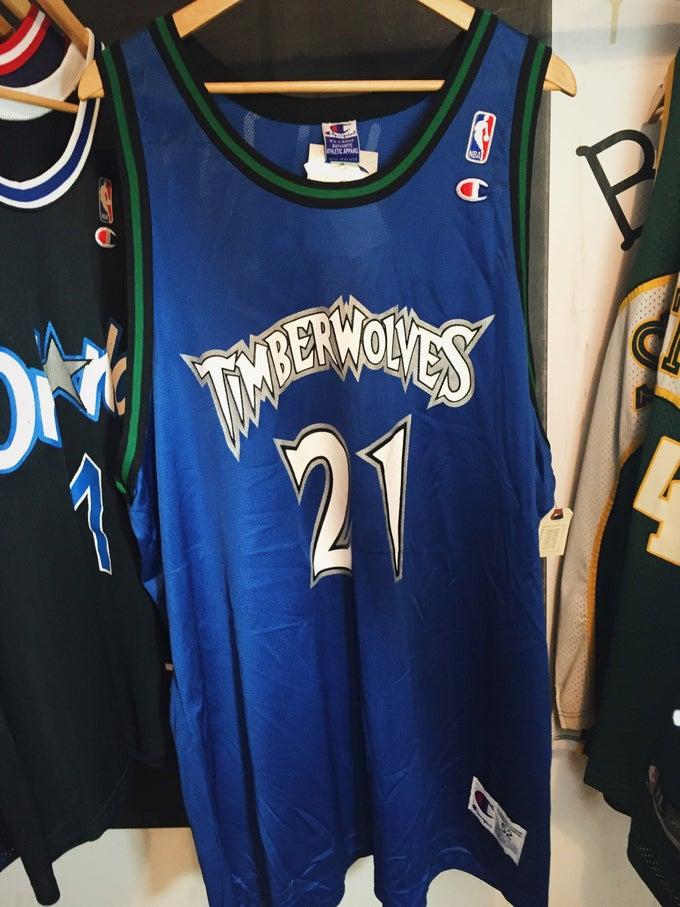 Image of KEVIN GARNETT Minnesota Timberwolves Champion Replica Jersey