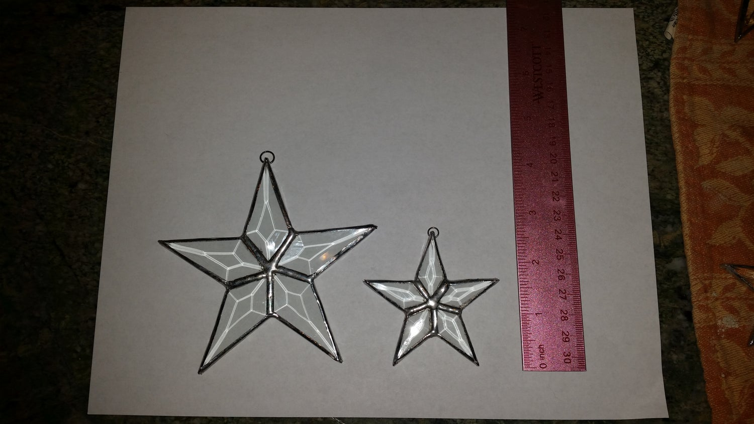 Image of Small Beveled Star-stained glass