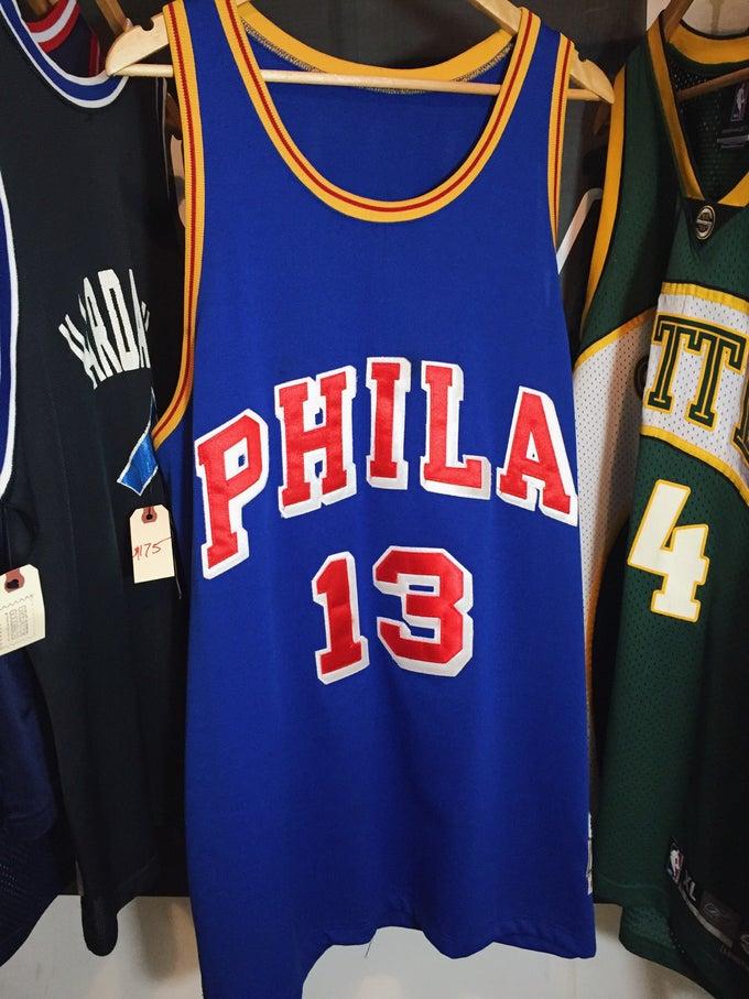 Image of Phildelphia SIXERS Wilt Chamberlain Authentic Jersey