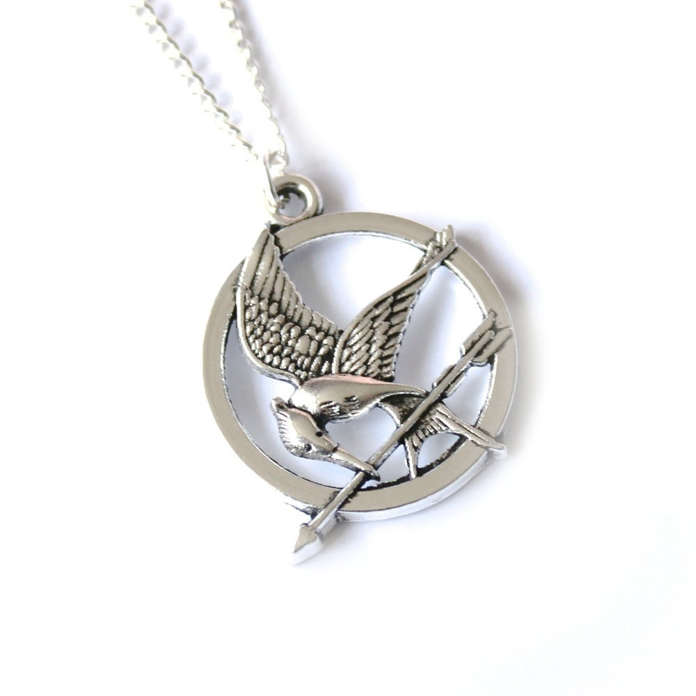 Image of HUNGER GAMES INSPIRED 'MOCKINGJAY' NECKLACE