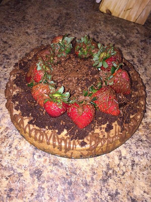 Big Strawberry Cake