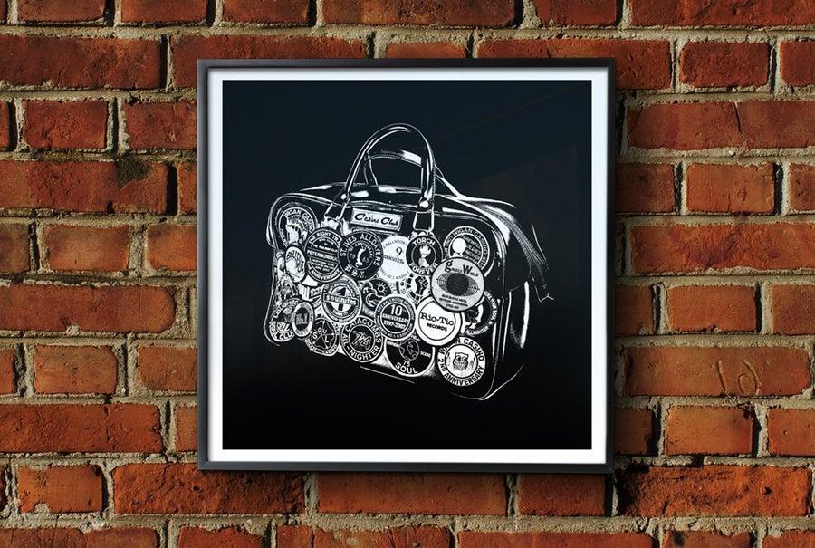 Image of 'All Nighter Bag' Framed Print