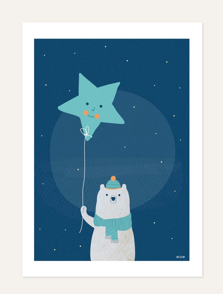"""Image of """"The Bear and Star"""" print"""