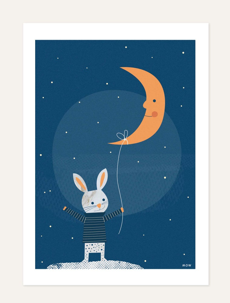 "Image of ""The rabbit and the Moon"" print"