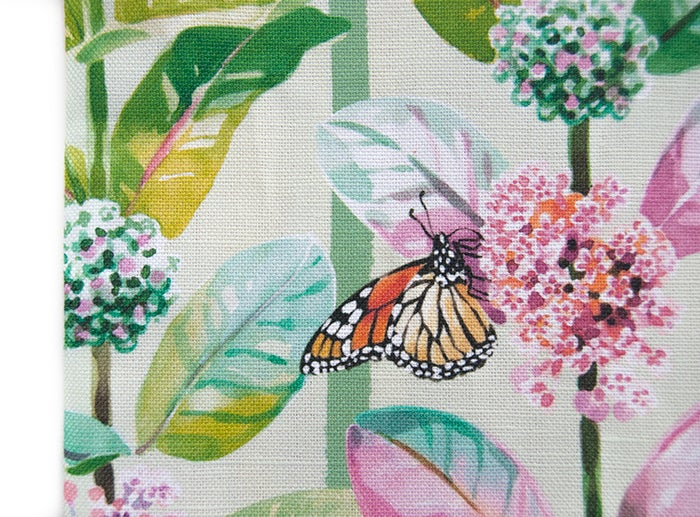 Image of Monarchs & Milkweed Canvas Pouch #2