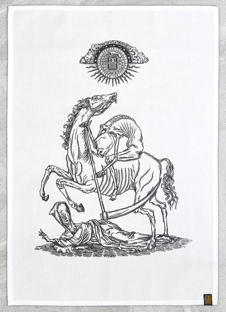 "Image of ""To Scythe and Sanctify"" Tea Towel"