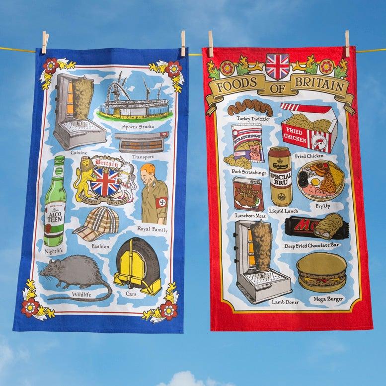 Image of Shite Britain Souvenir Tea Towels