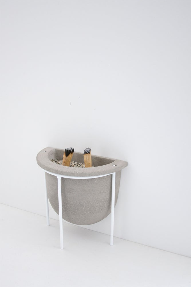 Image of Concrete Vessel With Stand