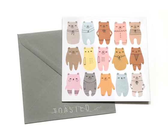 Image of Bear Parade Greeting Card